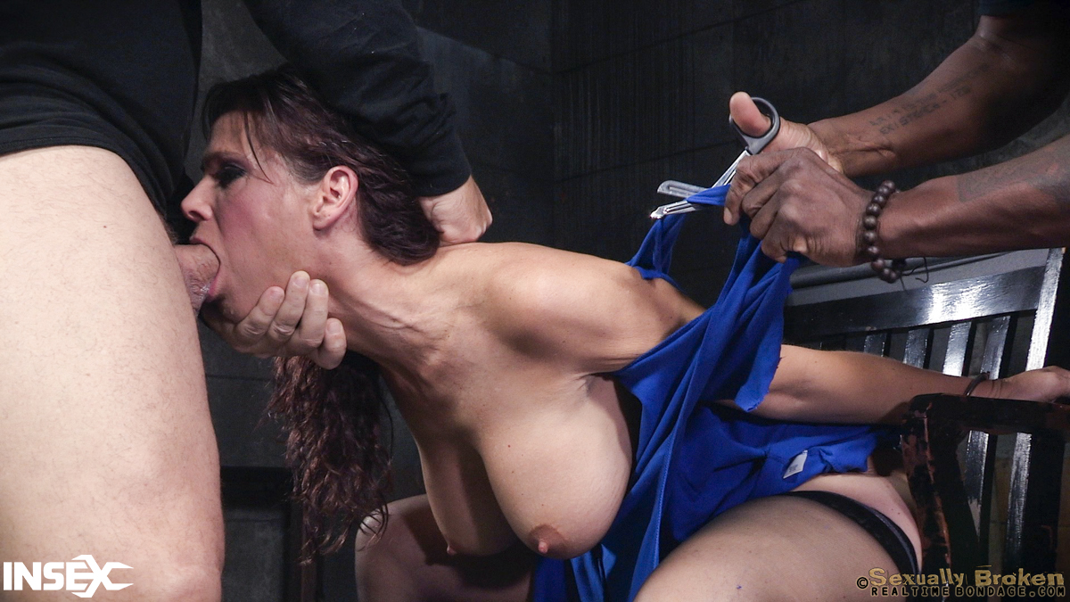 Submissive Milf Struggles As He Face Fucks Her Balls