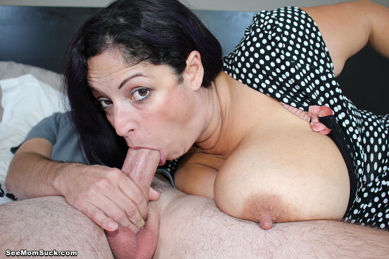 Milf gets her throat filled with big cock